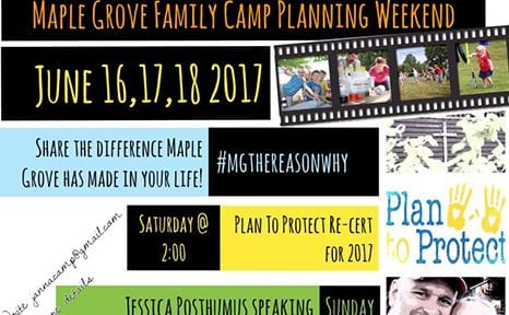 Family Camp Planning Weekend – June 16,17,18